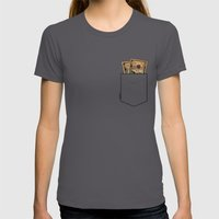Pockets - Macklemore - Womens Fitted Tee Asphalt SMALL