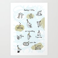 Having A Bird Art Print