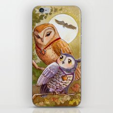 Someone To Watch Over Me ~ Owls in moonlight iPhone & iPod Skin