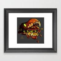 Burgermonster Framed Art Print