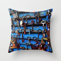 Unlock Me Throw Pillow