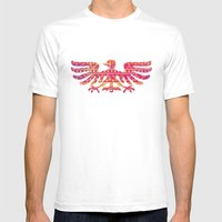 Inspired Aztec Pattern Mens Fitted Tee White SMALL
