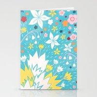 Aqua Lilies Stationery Cards