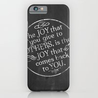 iPhone & iPod Case featuring Give Joy  by rollerpimp