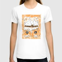 Fat Berts window Womens Fitted Tee White SMALL