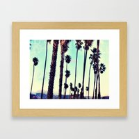 SB Palm Walk Framed Art Print