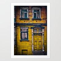 The Yellow House Art Print