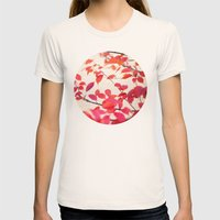 Cerise Womens Fitted Tee Natural SMALL