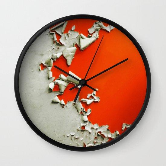 Orange Paper Peel Wall Clock