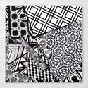 Chaos in Black and White Canvas Print