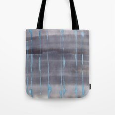 Grey Rain Tote Bag