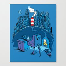 The Cat in the Underground Flat Canvas Print