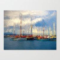 Waiting to sail Canvas Print
