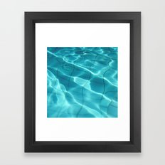 Water / Swimming Pool (Water Abstract) Framed Art Print