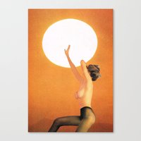 Girl In The Sun... (One … Canvas Print