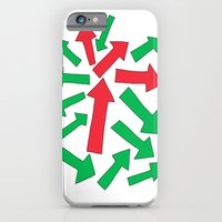 Red Arrow Over Green iPhone 6 Slim Case
