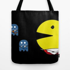 pacman effect Tote Bag