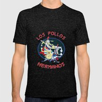 Los pollos hermanos Mens Fitted Tee Tri-Black SMALL