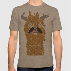 living nature Mens Fitted Tee Tri-Coffee SMALL