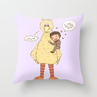 Romney Loves Big Bird Throw Pillow