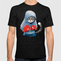 Boxing Cat Mens Fitted Tee Tri-Black SMALL