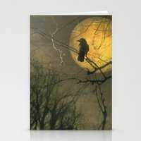Stationery Card featuring Autumn Moon by The Strange Days Of Gothicolors