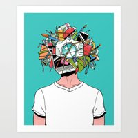 Creative Head Art Print