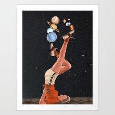 Cosmic Juggle Art Print