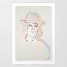 one line Jack White Art Print