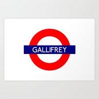 Gallifrey Art Print
