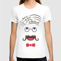 Barbershop Wisdom Womens Fitted Tee White SMALL