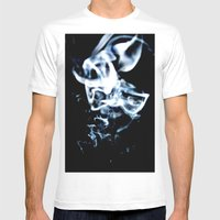 Drifting Smoke Mens Fitted Tee White SMALL