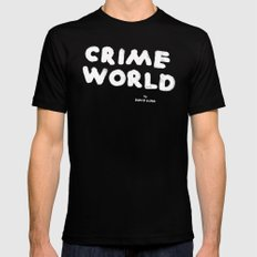 Crime World Logo Mens Fitted Tee Black SMALL