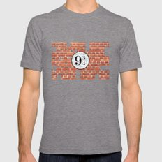 Platform Nine And Three-… Mens Fitted Tee Tri-Grey SMALL