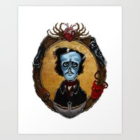 Poe in Color (variant) Art Print