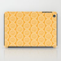 Floral mix - lace yellow iPad Case