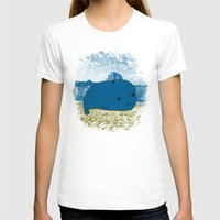Why such a lonely beach? Womens Fitted Tee White SMALL