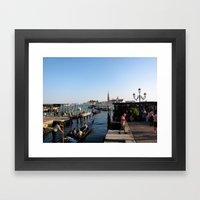 Gondolier - Venice Framed Art Print