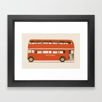 Red London Bus Framed Art Print
