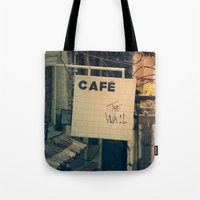 Cafe The Wall Tote Bag