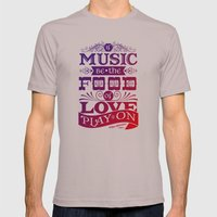 Food of Love  Mens Fitted Tee Cinder SMALL