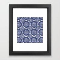 Paisley Blues Framed Art Print