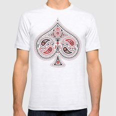 83 Drops - Spades (Red & Black) Mens Fitted Tee Ash Grey SMALL