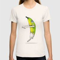Banana Zombie Womens Fitted Tee Natural SMALL