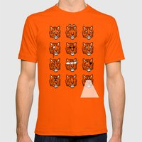 Eyes Of The Tiger Mens Fitted Tee Orange SMALL