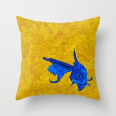 A fish! A fish! A fishy... OH!! Throw Pillow