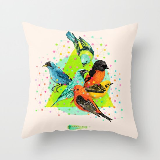 Colour Party III Throw Pillow