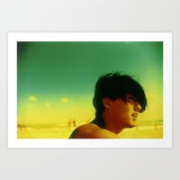 Asian Green And Yellow Art Print