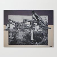 Canvas Print featuring industrial fall by Marisabel Lavastida
