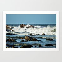 Crackington Bay Art Print